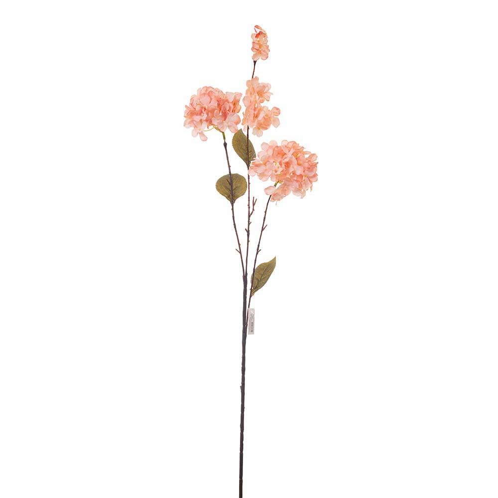 Hortência Artificial X3 Envelhecida Rose 95cm