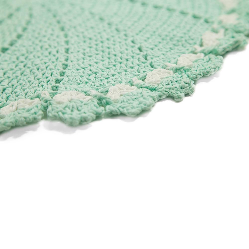 Jogo Americano Crochê Barroco Verde Claro 42cm