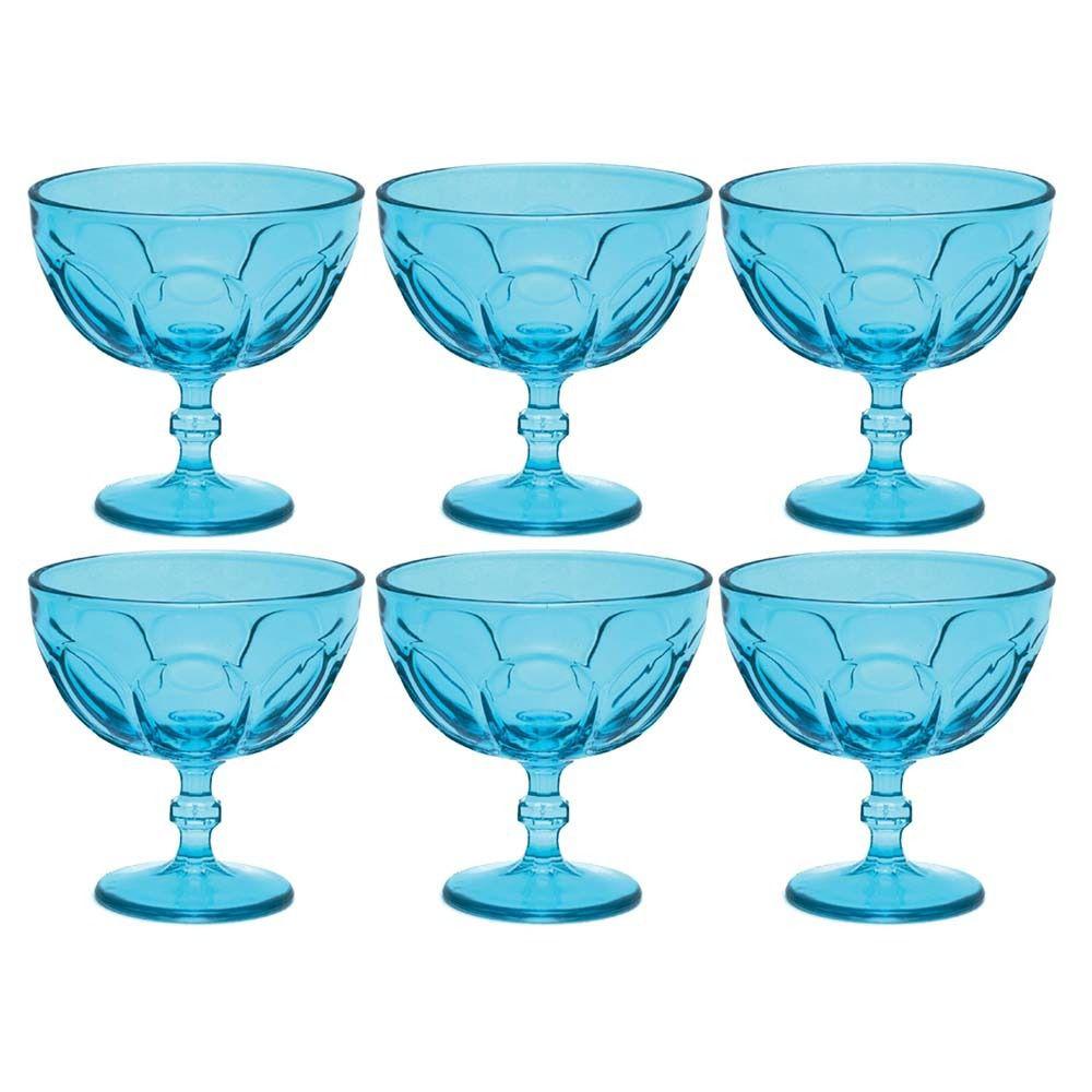 Jogo com 6 Taças para Sobremesa Country Libbey Azul 380ml