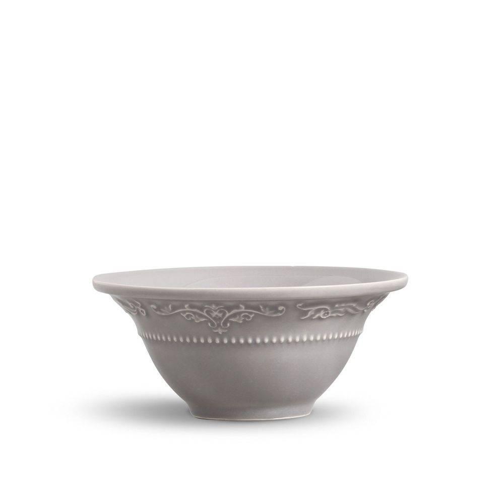 Jogo de 6 Bowls 450ml Acanthus Cinza Claro Porto Brasil