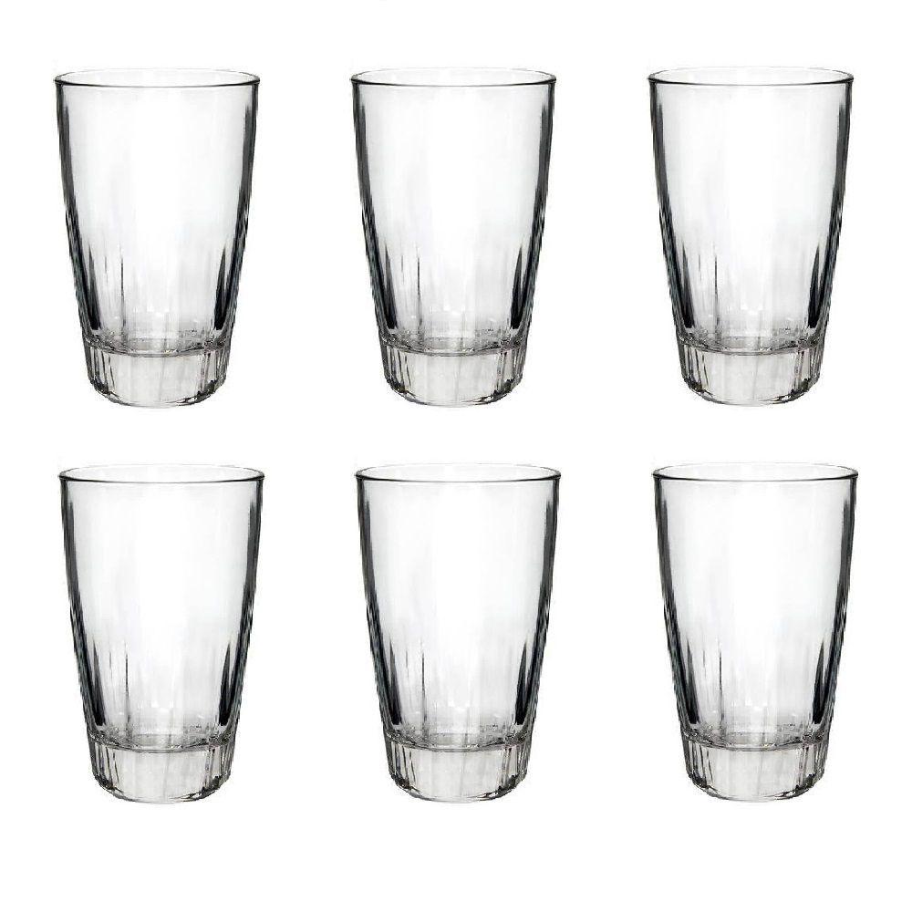 Jogo de 6 Copos Long Drink Vidro Transparente 470ml