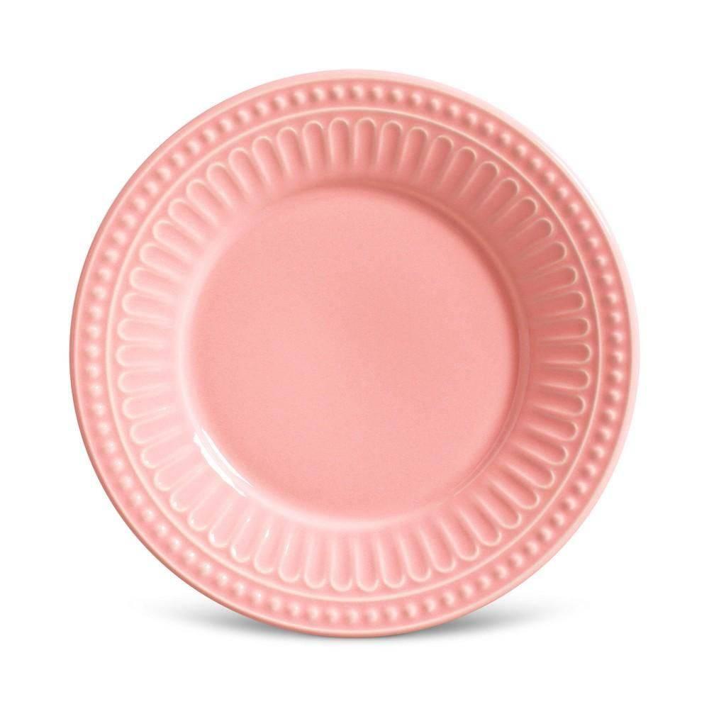 Jogo de 6 Pratos de Sobremesa 20,5cm - Pérgamo Rosa