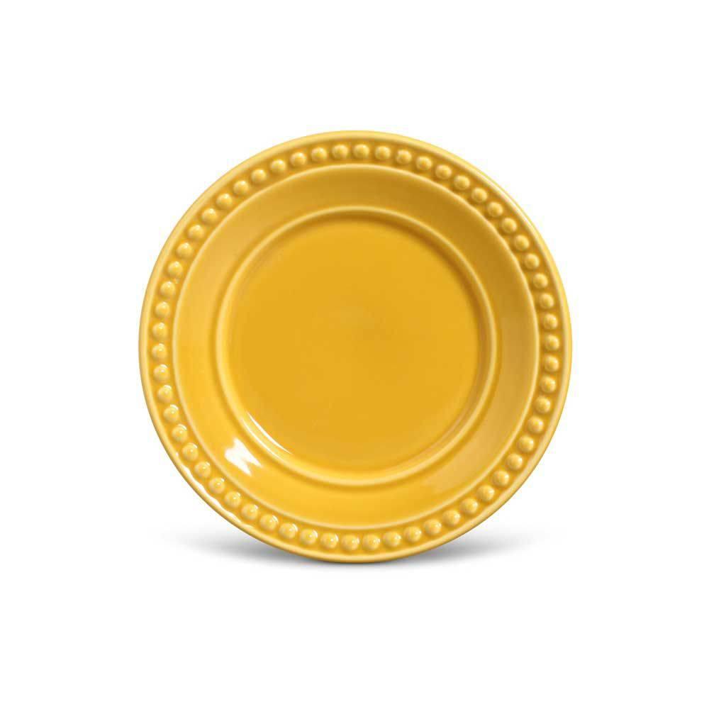 Jogo de 6 Pratos de Sobremesa Mostarda 20,5cm - Atenas