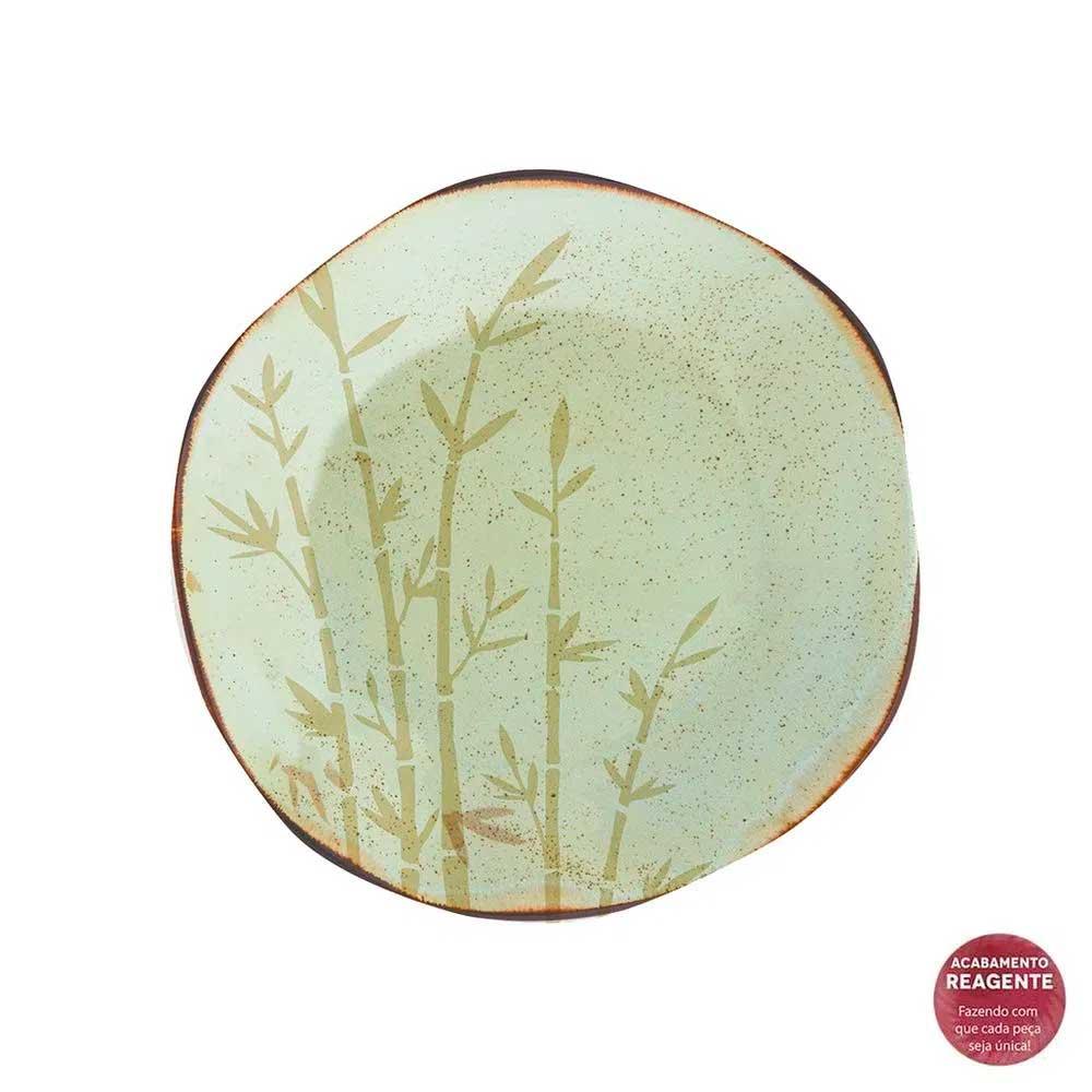 Jogo de 6 Pratos de Sobremesa Ryo Bambu 21,5cm
