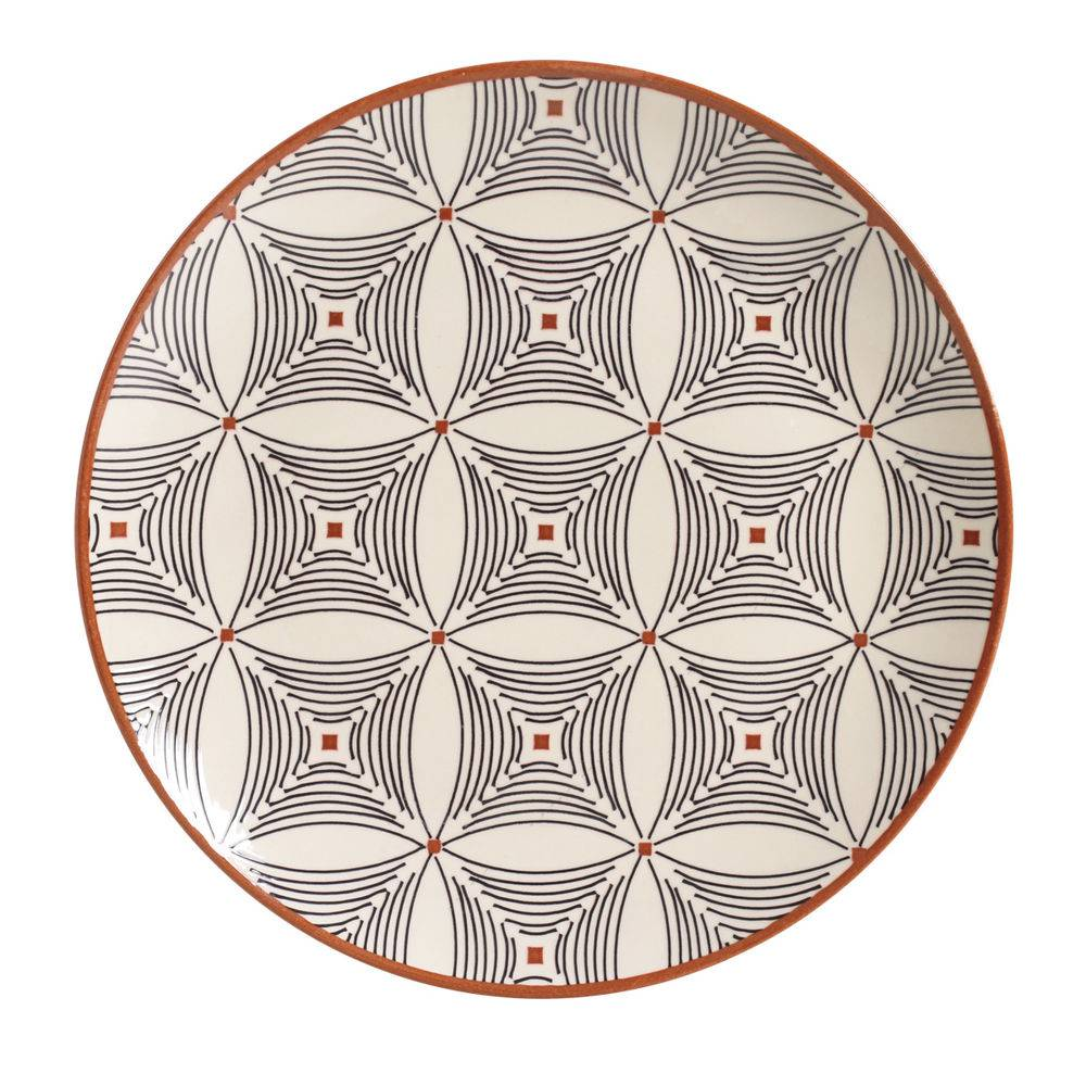 Jogo de 6 Pratos Raso 27cm - Coup Geometria