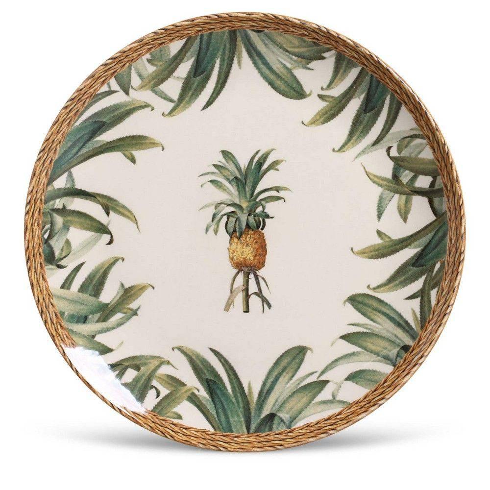Jogo de 6 Pratos Raso 27cm Coup Pineapple Natural Porto Brasil