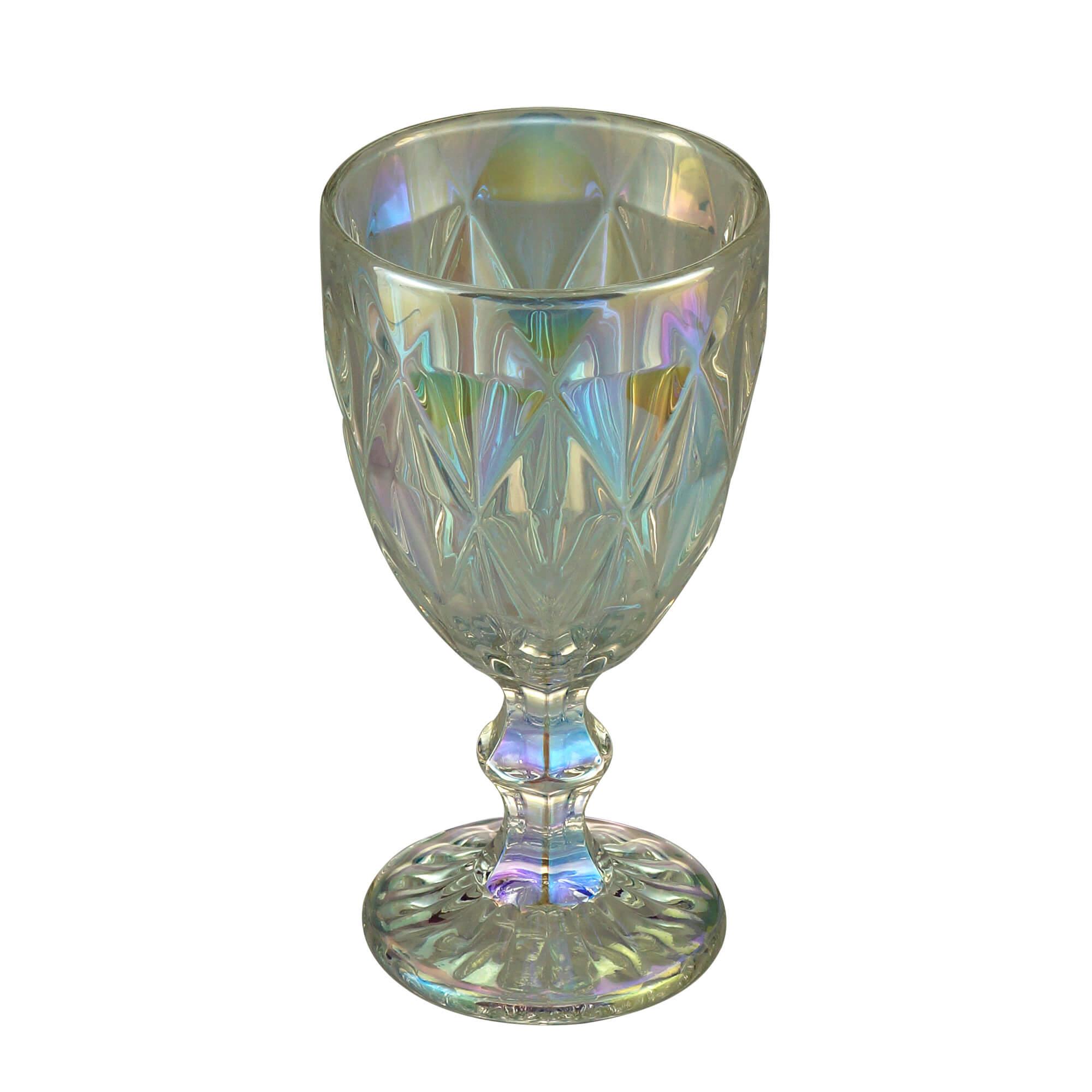 Jogo de 6 Taças para Água de Vidro Diamond Rainbow 325ml