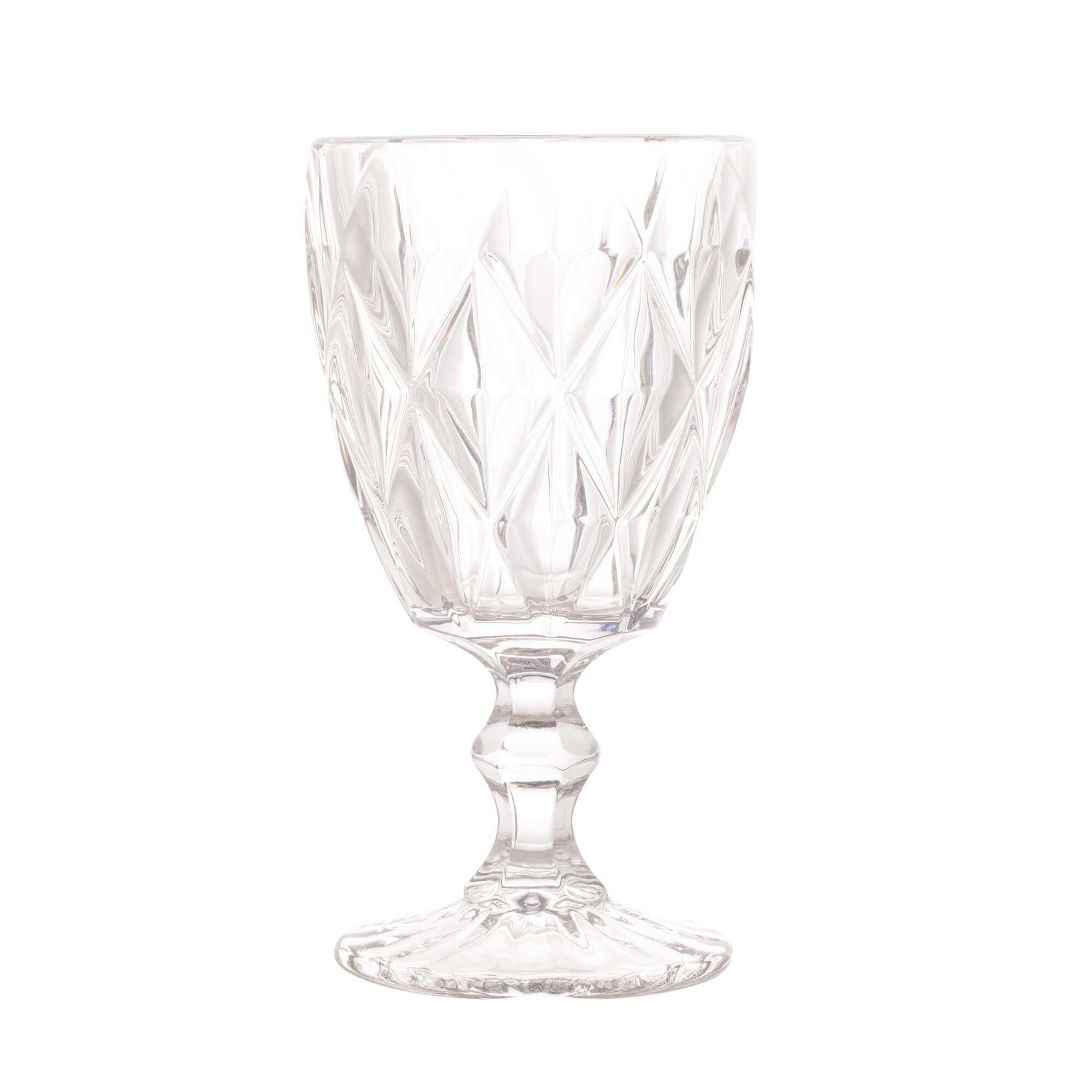 Jogo de 6 Taças para Água de Vidro Diamond Transparente 325ml
