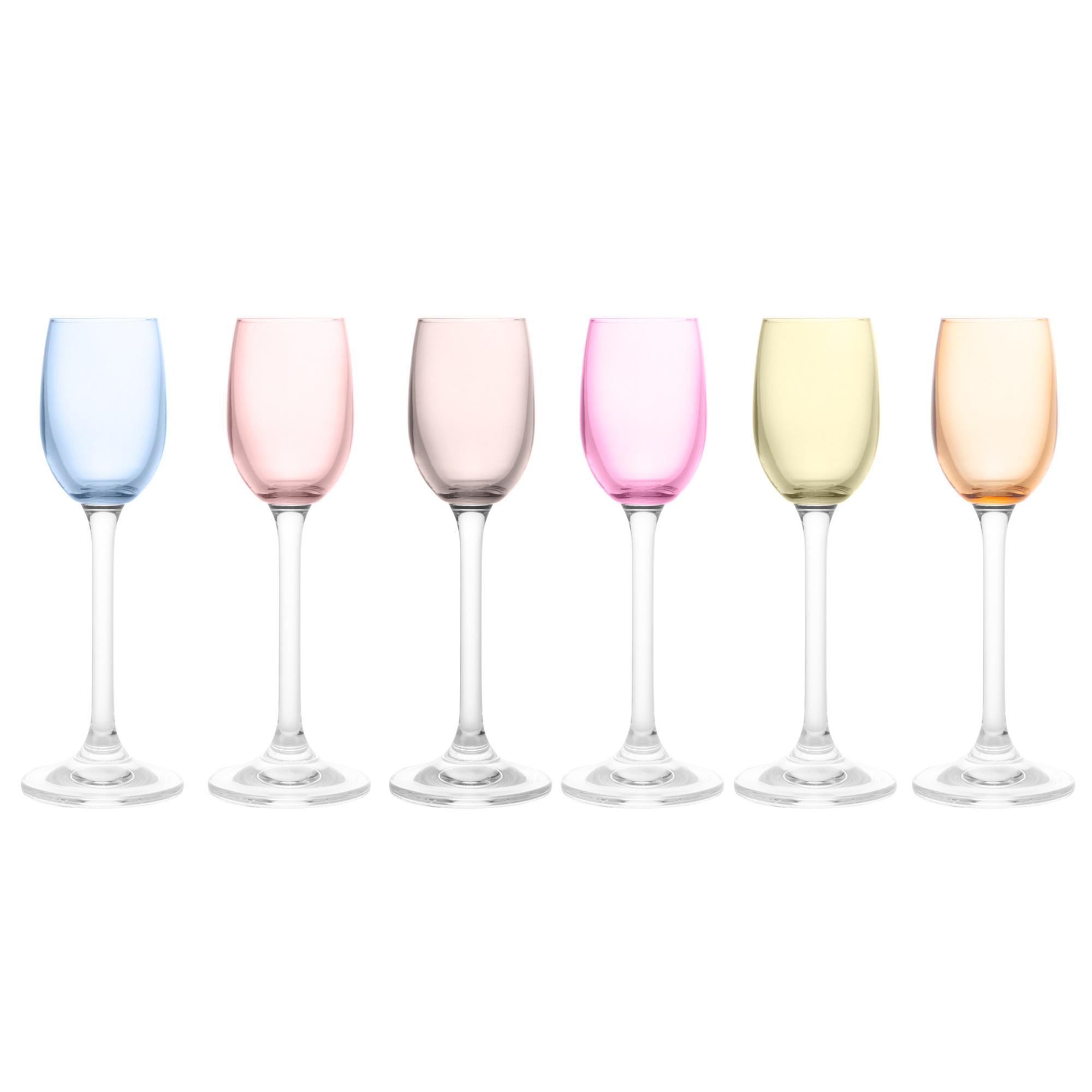 Jogo de 6 Taças para Licor em Cristal Bohemia Gastro/Colibri Colorida 65ml