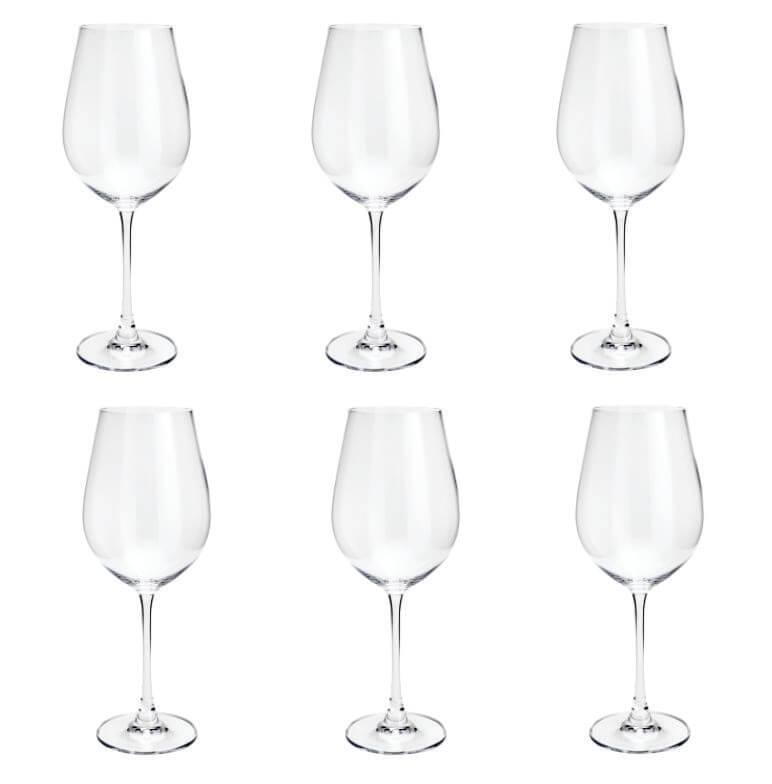 Jogo de 6 Taças para Vinho Branco em Cristal Bohemia Columba 400ml