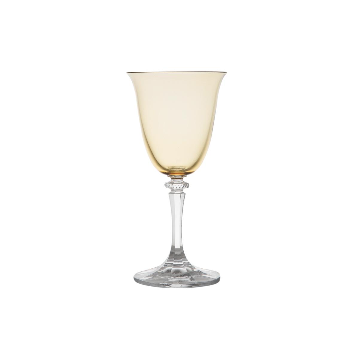 Jogo de 6 Taças para Vinho Branco em Cristal Bohemia Kleopatra/Branta Ambar 250ml