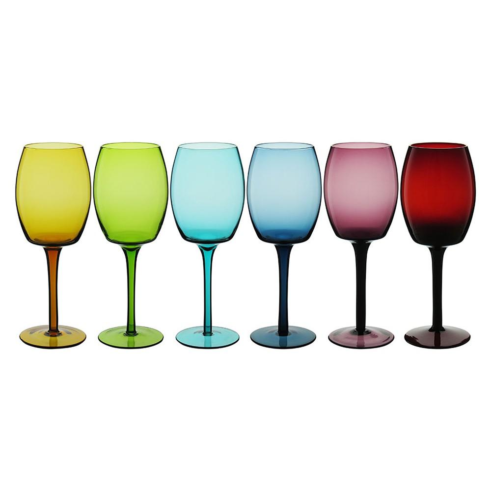 Jogo de 6 Taças para Vinho Colorida Riserva 320ml