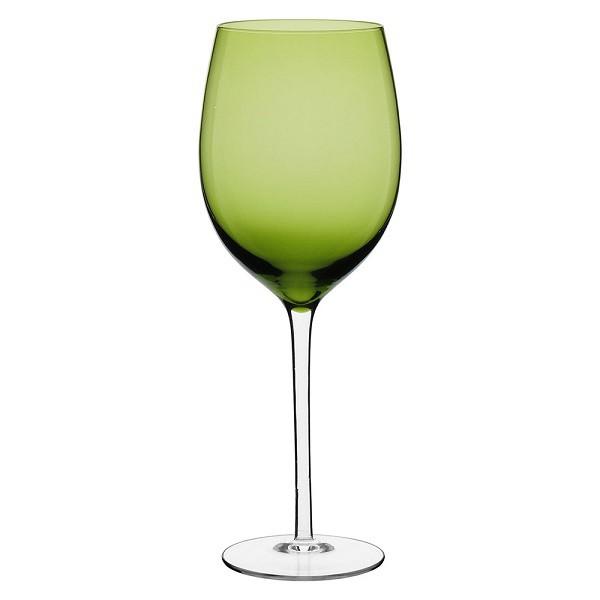 Jogo de 6 Taças para Vinho em Vidro Verde 600ml