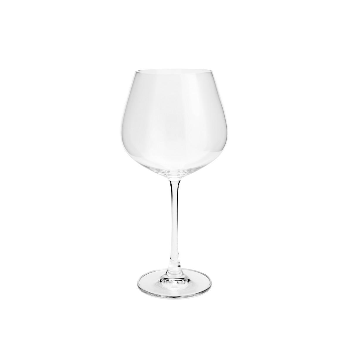 Jogo de 6 Taças para Vinho Tinto em Cristal Bohemia Columba 640ml