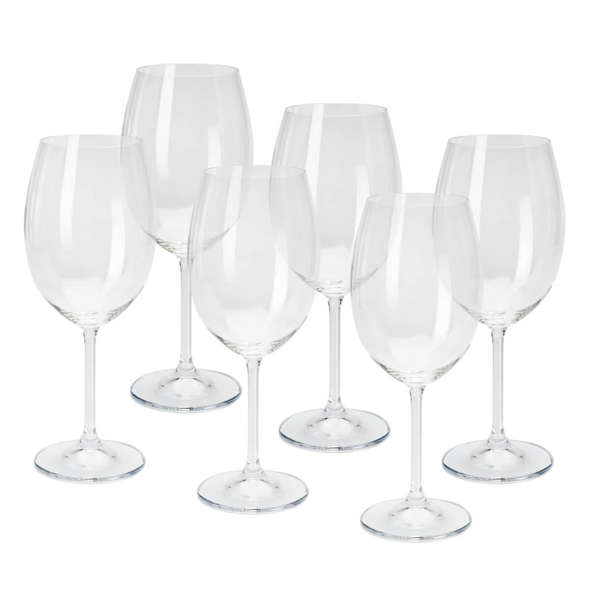 Jogo de 6 Taças para Vinho Tinto em Cristal Ecológico Bohemia Gastro/Colibri 450ml