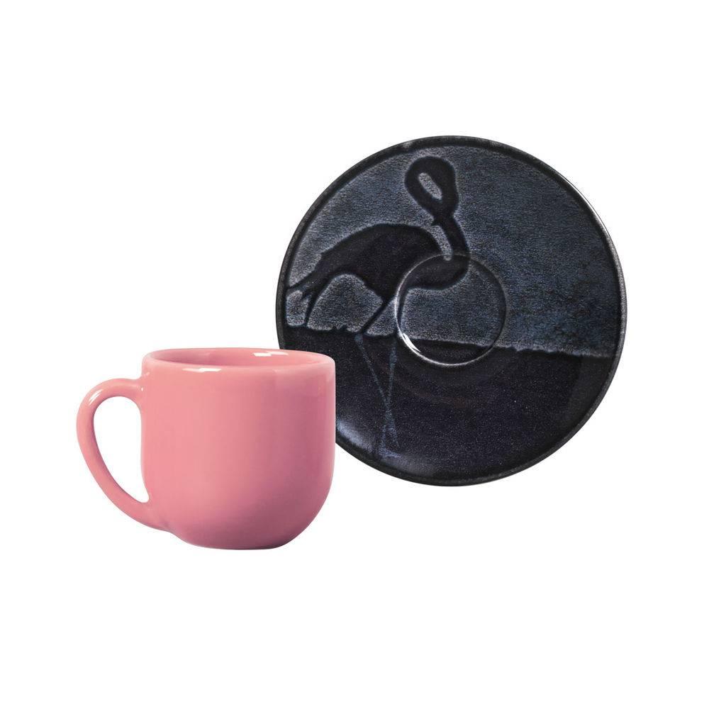 Jogo de 6 Xícaras de Café com Pires 112ml - Coup Camargue