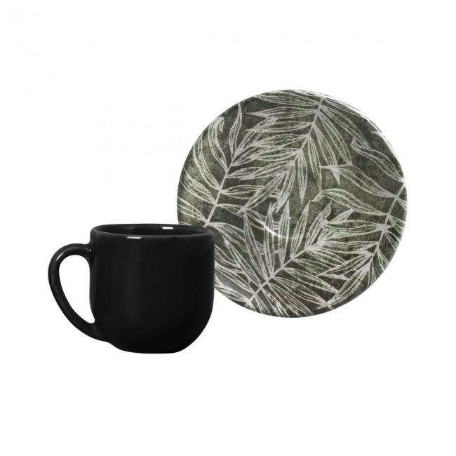 Jogo de 6 Xícaras de Café com Pires 112ml Coup Herbarium Porto Brasil