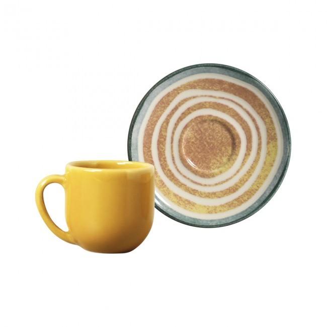 Jogo de 6 Xícaras de Café com Pires 112ml Coup Siracusa Porto Brasil