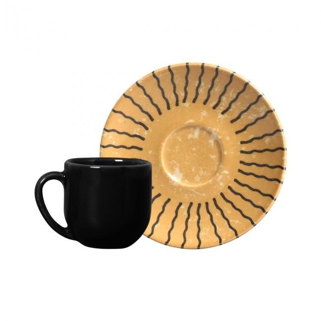 Jogo de 6 Xícaras de Café com Pires 112ml Coup Tulum Porto Brasil