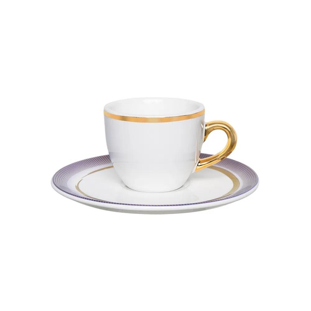 Jogo de 6 Xícaras de Café com Pires Coup Glam 75ml Oxford