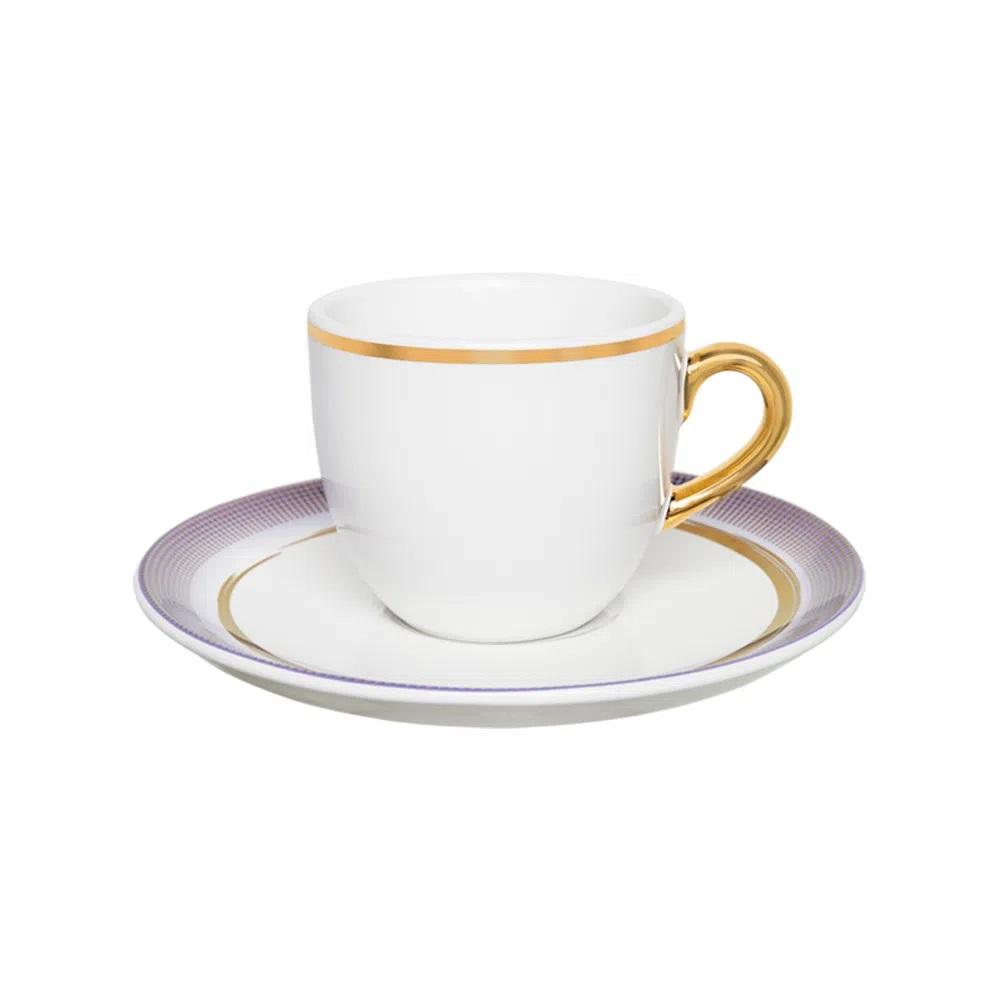 Jogo de 6 Xícaras de Chá com Pires Coup Glam 200ml Oxford