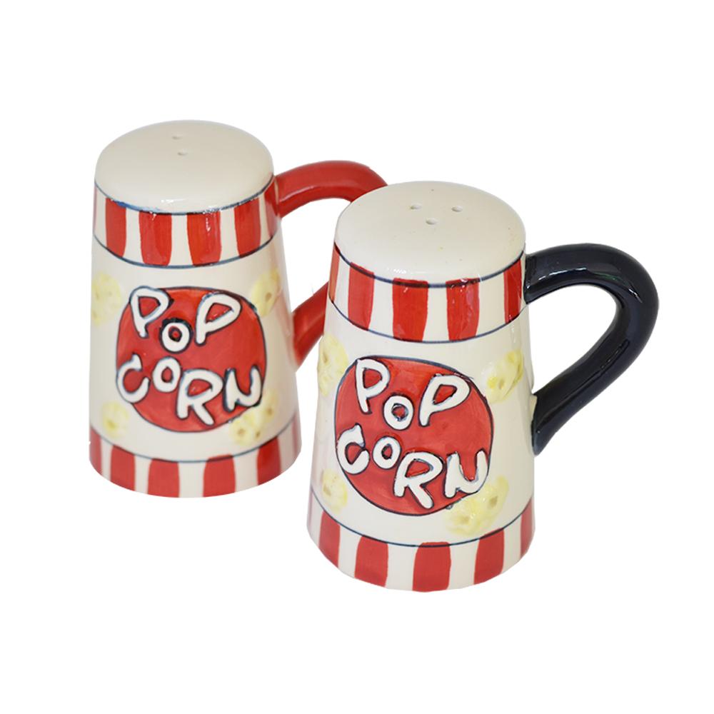 Kit Porta Tempero de Cerâmica 2 peças Pop Corn