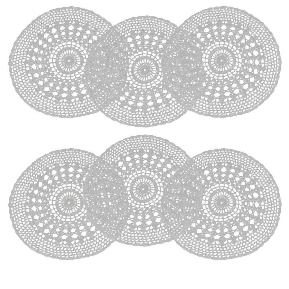Jogo Americano Crochê Branco 33cm