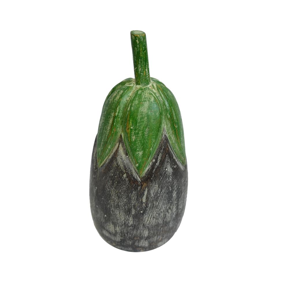 Legume de Madeira Colorido - Berinjela