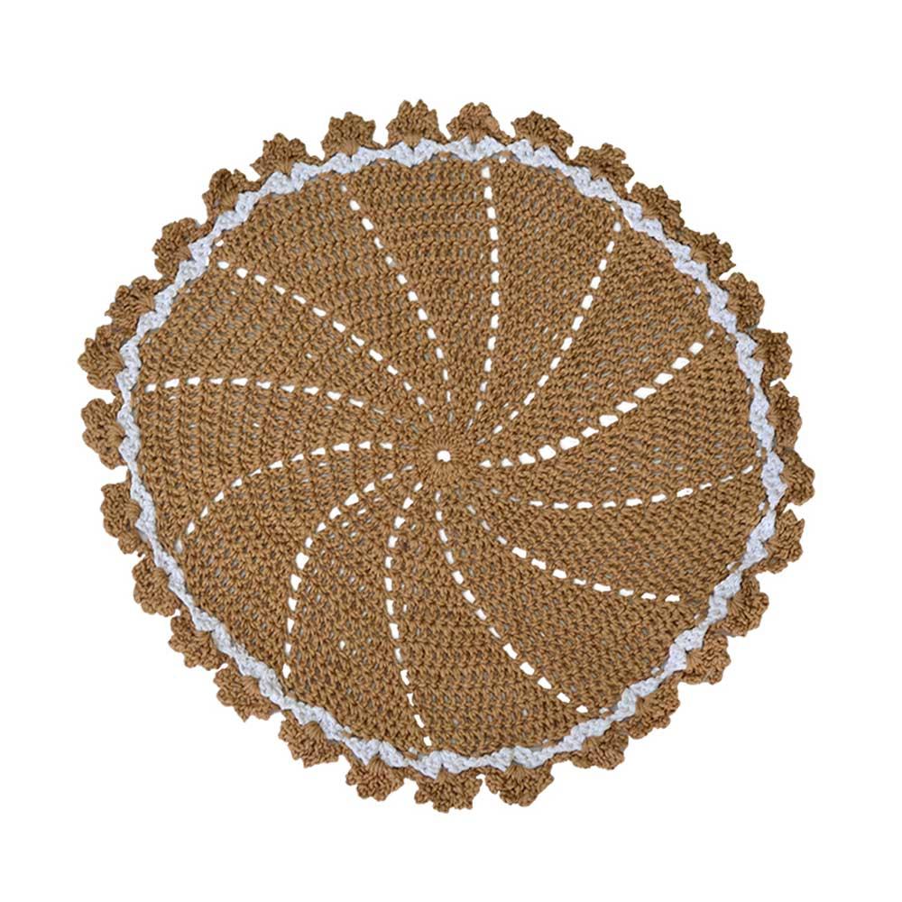Lugar Americano Crochê Barroco Bege 42cm