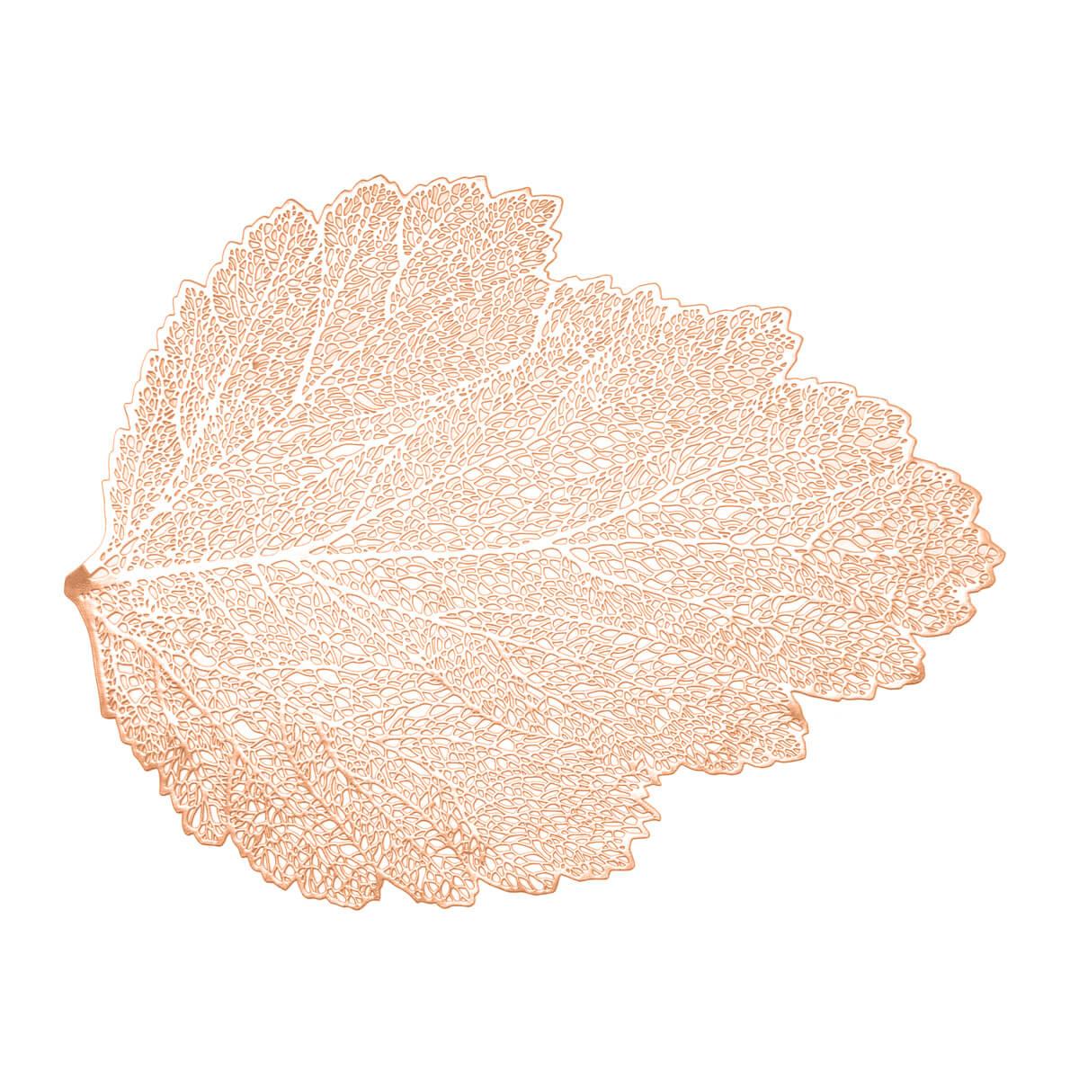 Lugar Americano de Plástico Folha Rose Gold Lyor