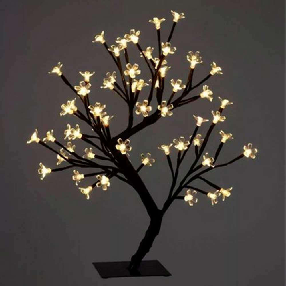 Luminária Árvore com 48 Leds Amarela