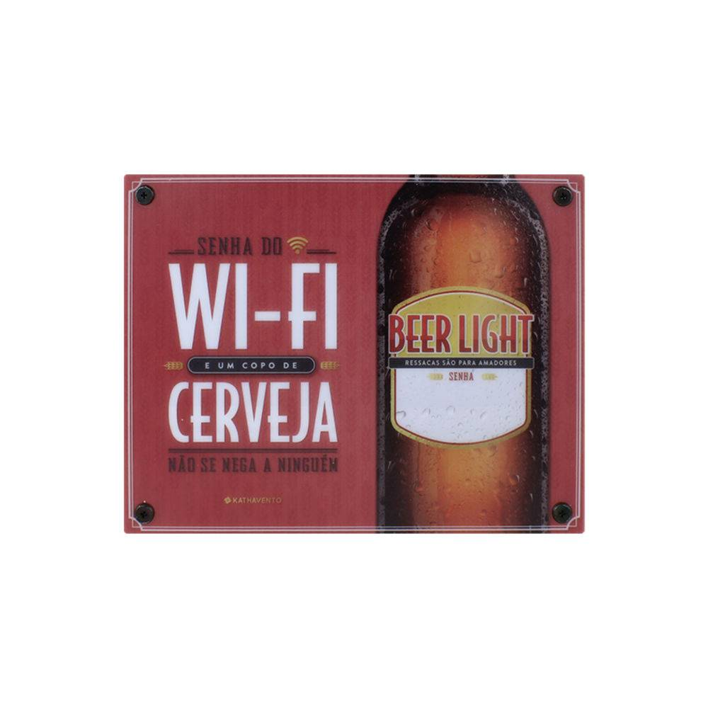 Luminária Bom Bebedor Senha do Wi-fi