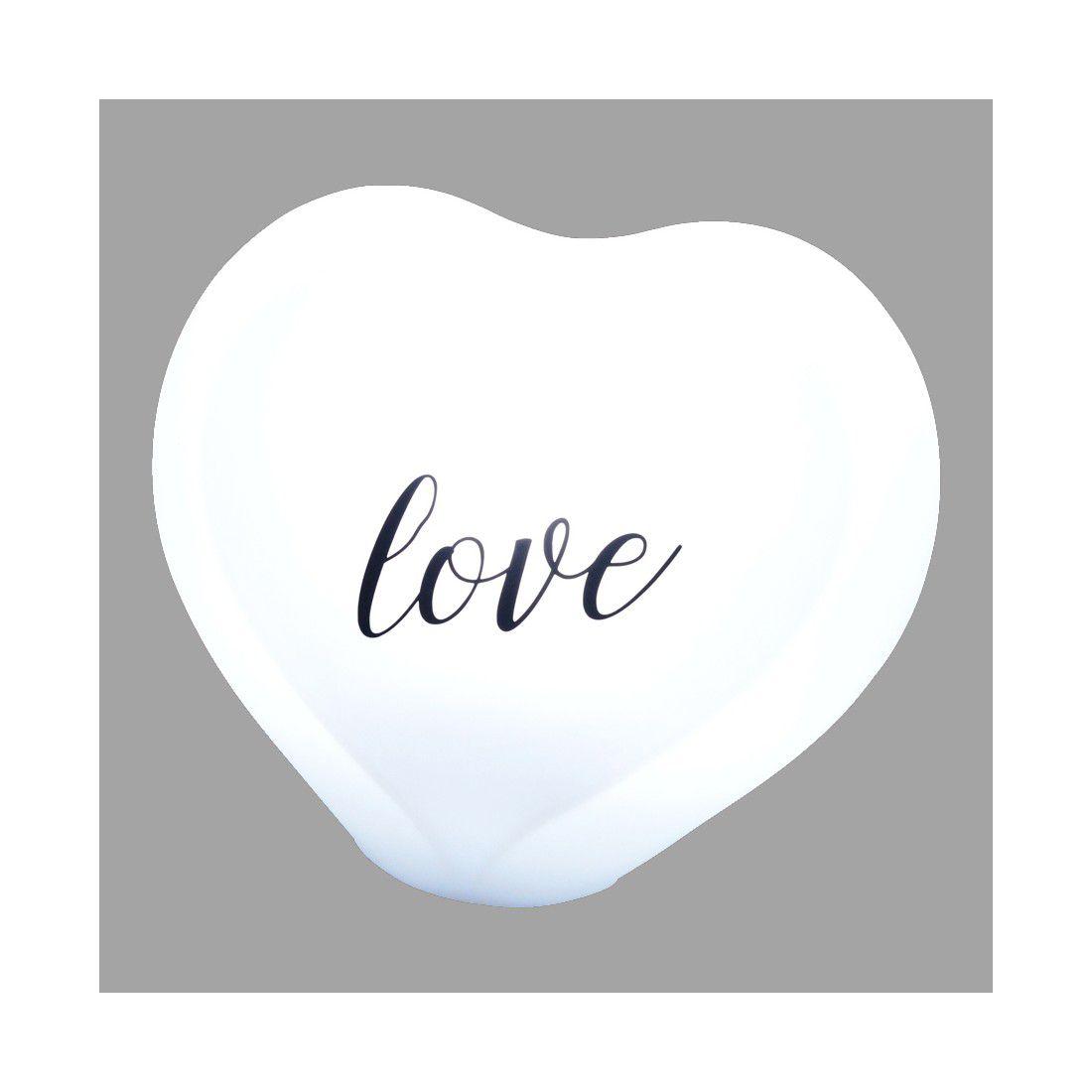 Luminária Coração Natural Love Estilizado Com Fio