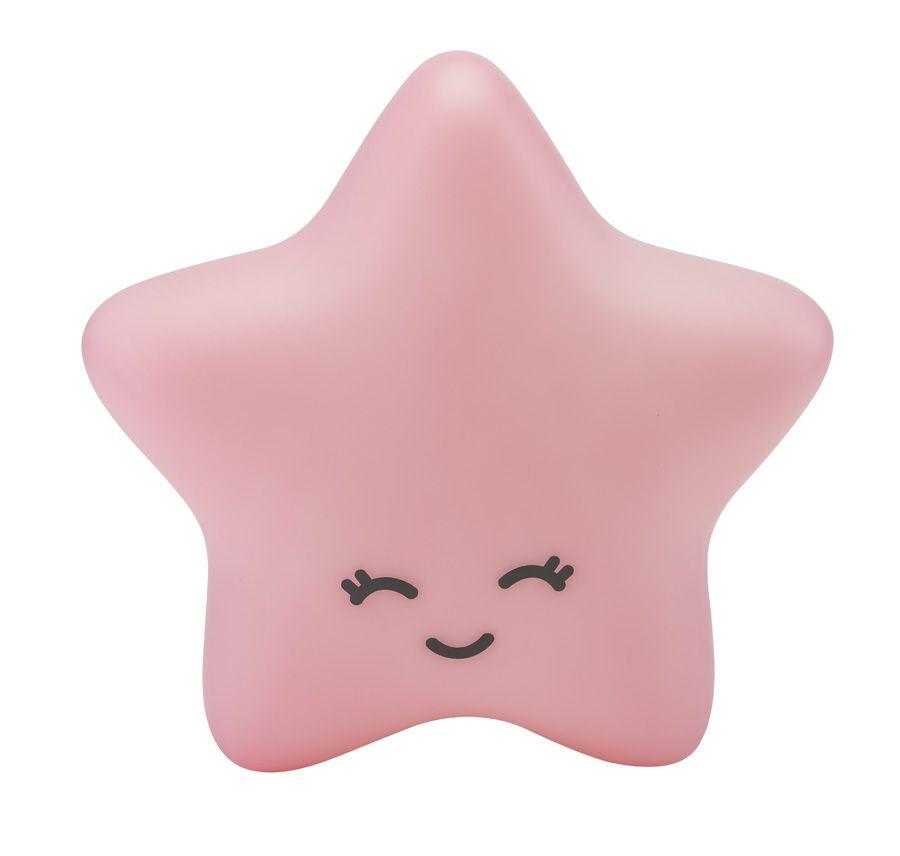 Luminária Estrela Rosa com Fio