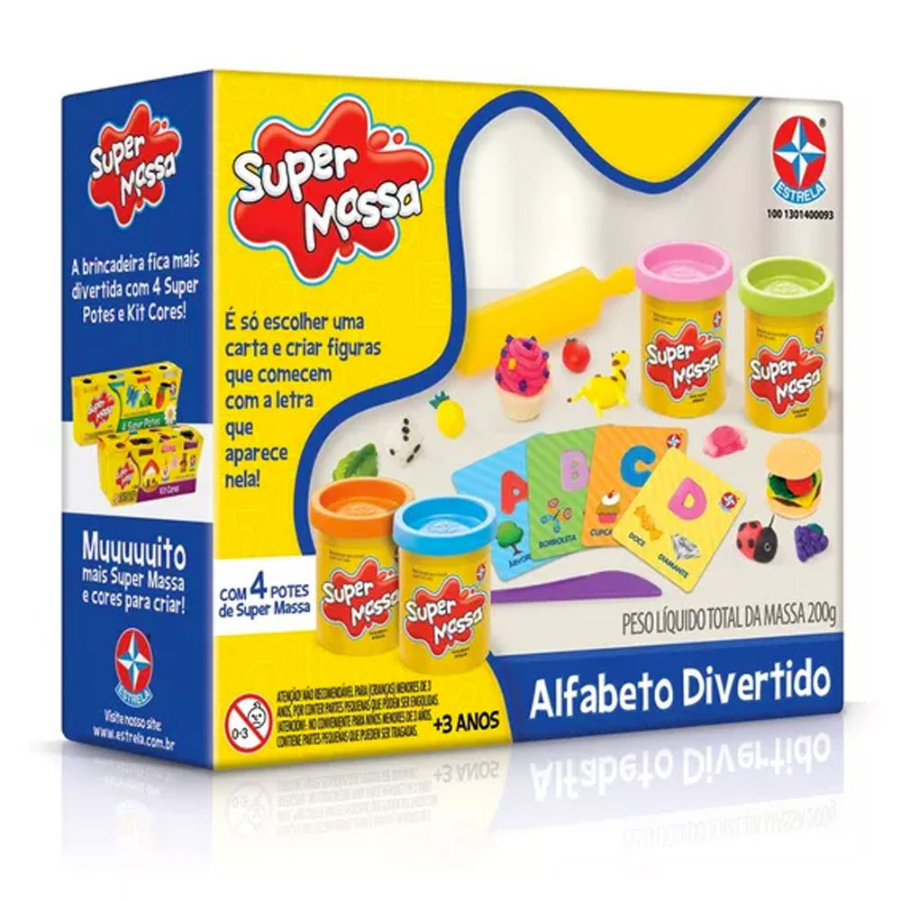Massinha Super Massa Alfabeto Divertido