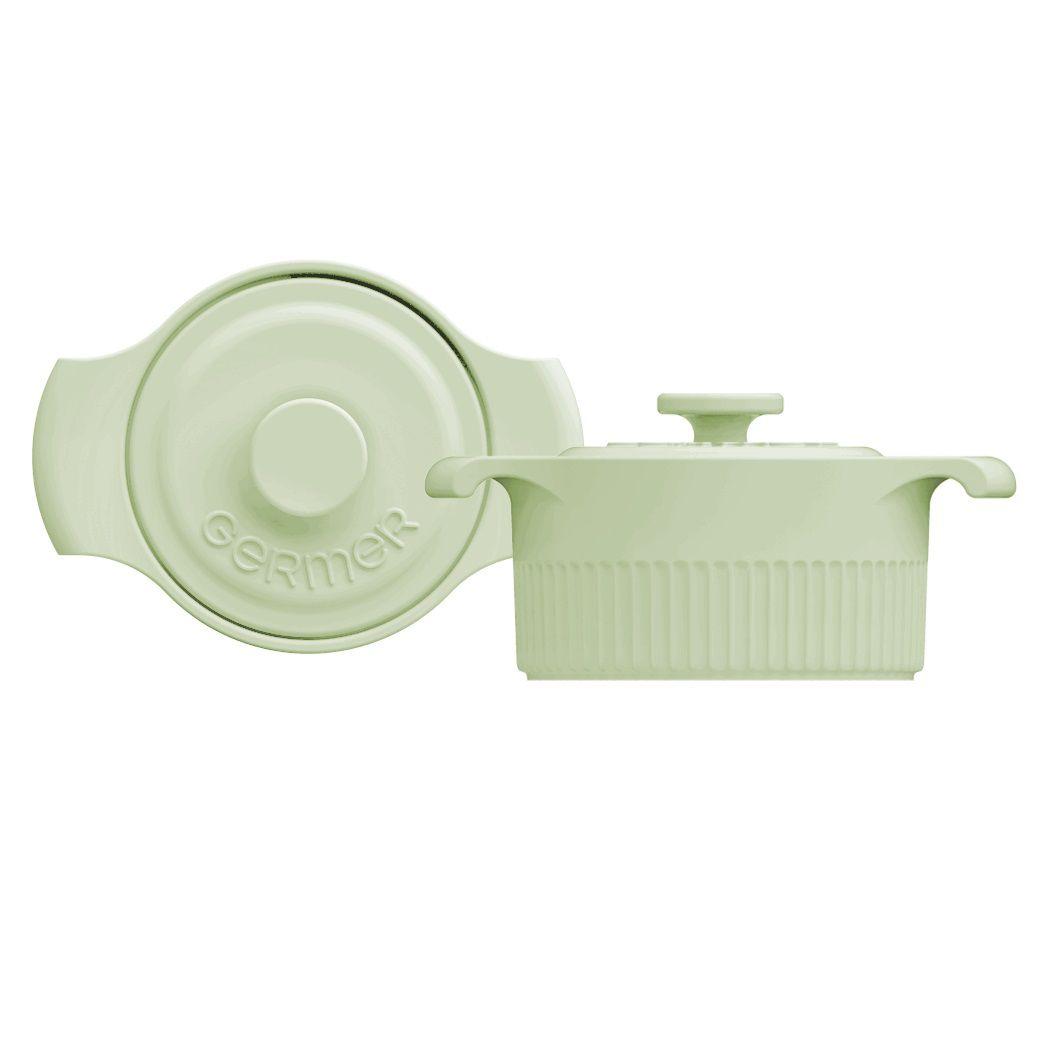 Mini Panela de Porcelana Verde Menta 10cm