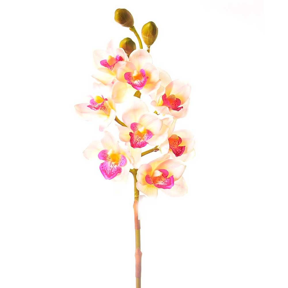 Orquídea Artificial Cimbidium X8 Toque Real 74cm