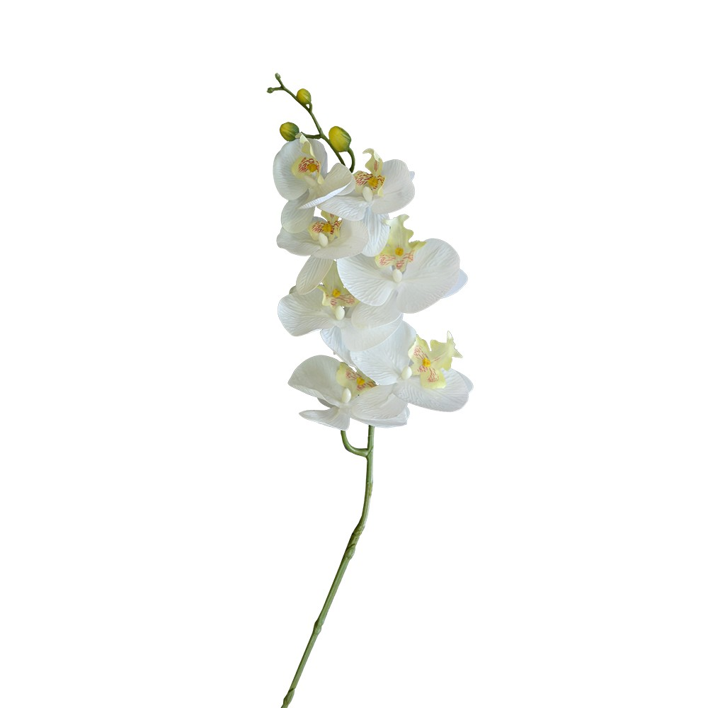Orquídea Artificial Toque Real X7 Branca 65cm