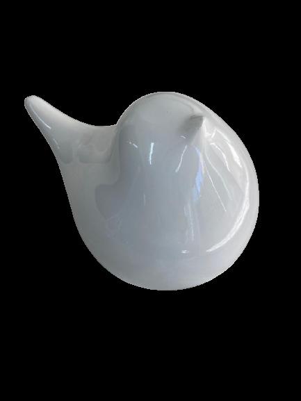 Pássaro Decorativo de Resina Big Branco