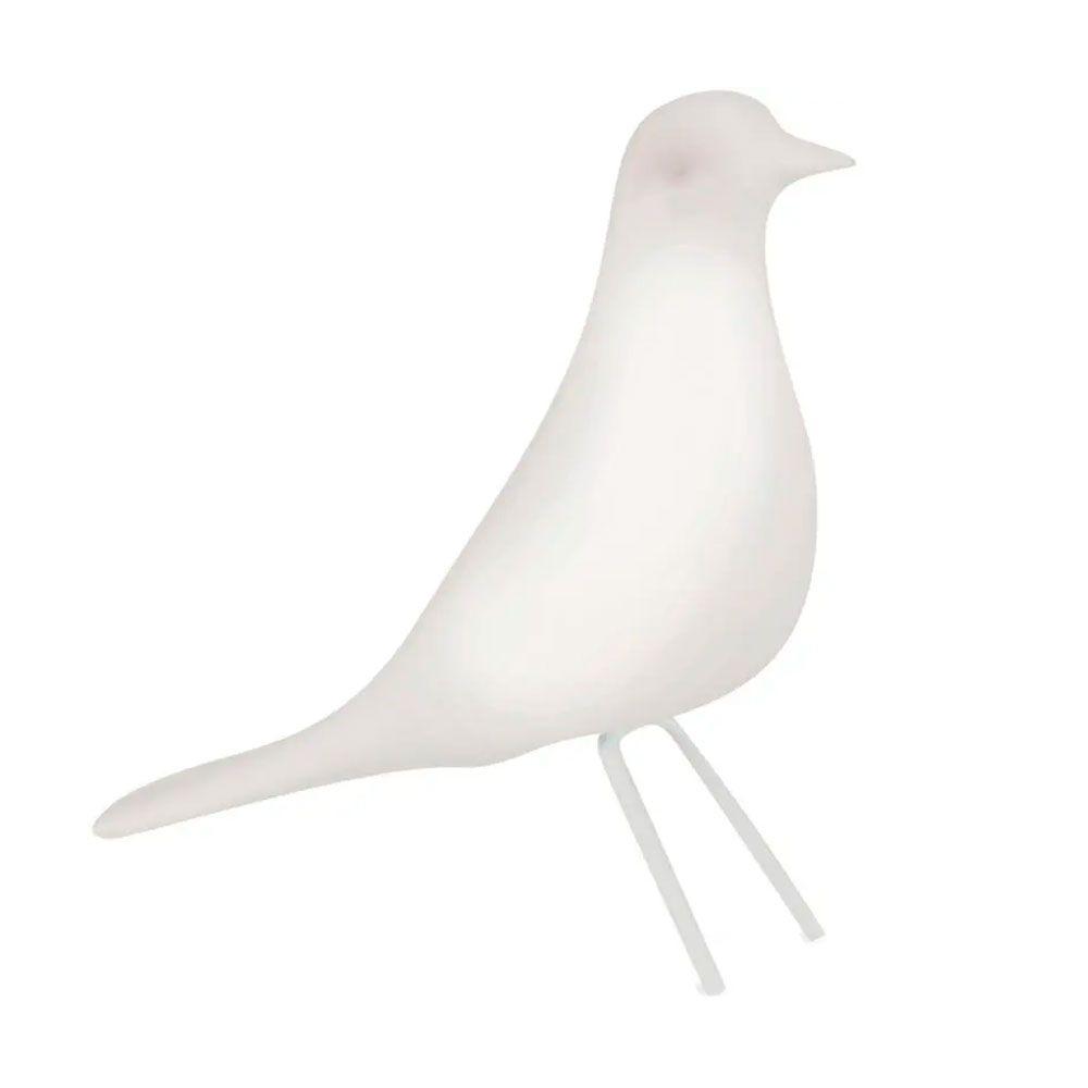 Pássaro Decorativo em Cerâmica Branco Grande