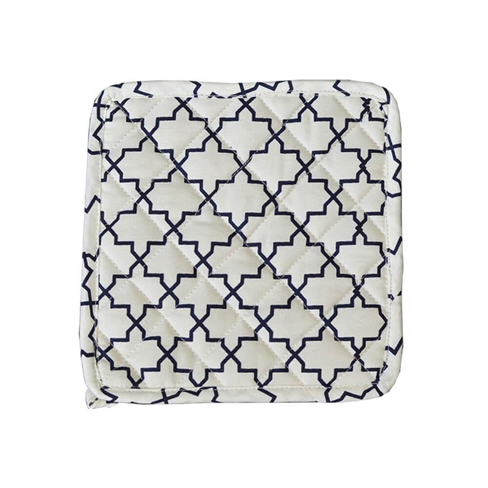 Pegador de Panela Branco/Preto 20cm