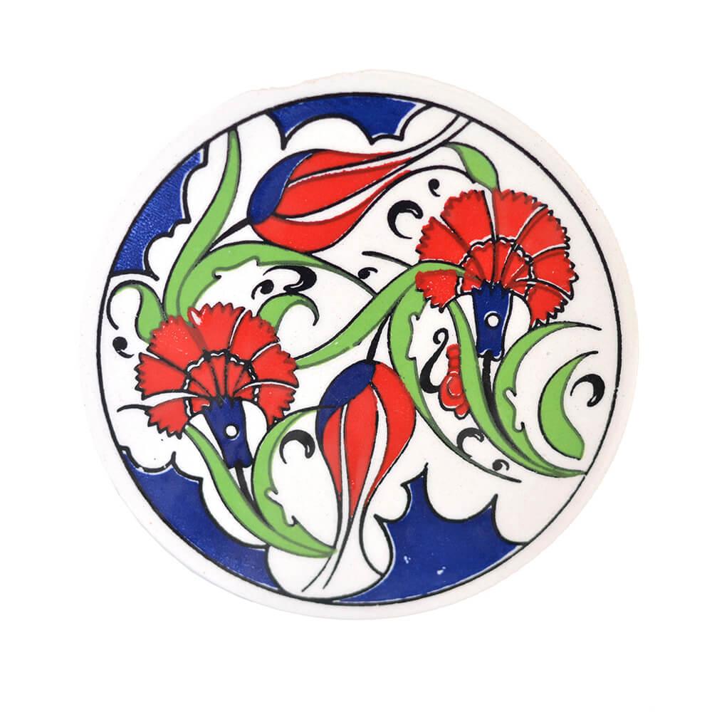 Porta Copo de Cerâmica Flores