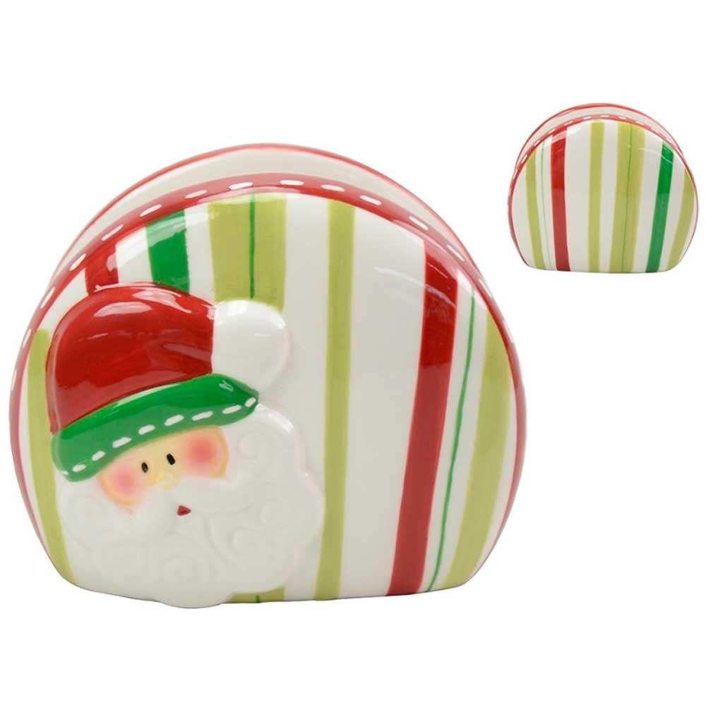 Porta Guardanapo Decorativo em Cerâmica de Natal
