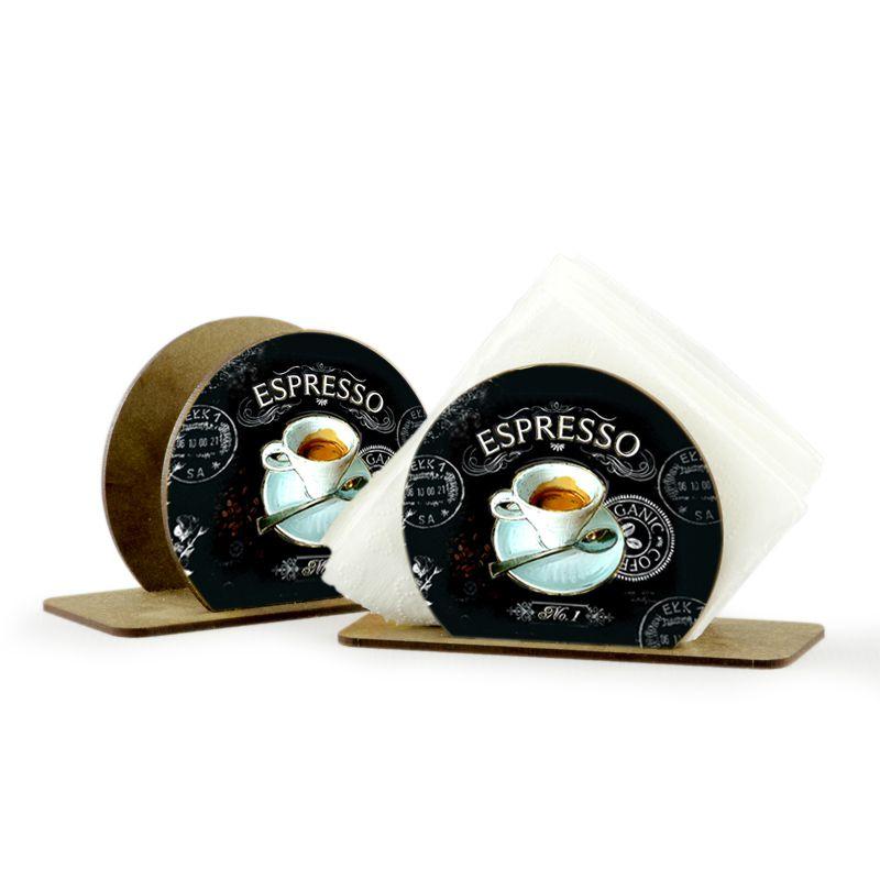 Porta Guardanapo em MDF Redondo Espresso