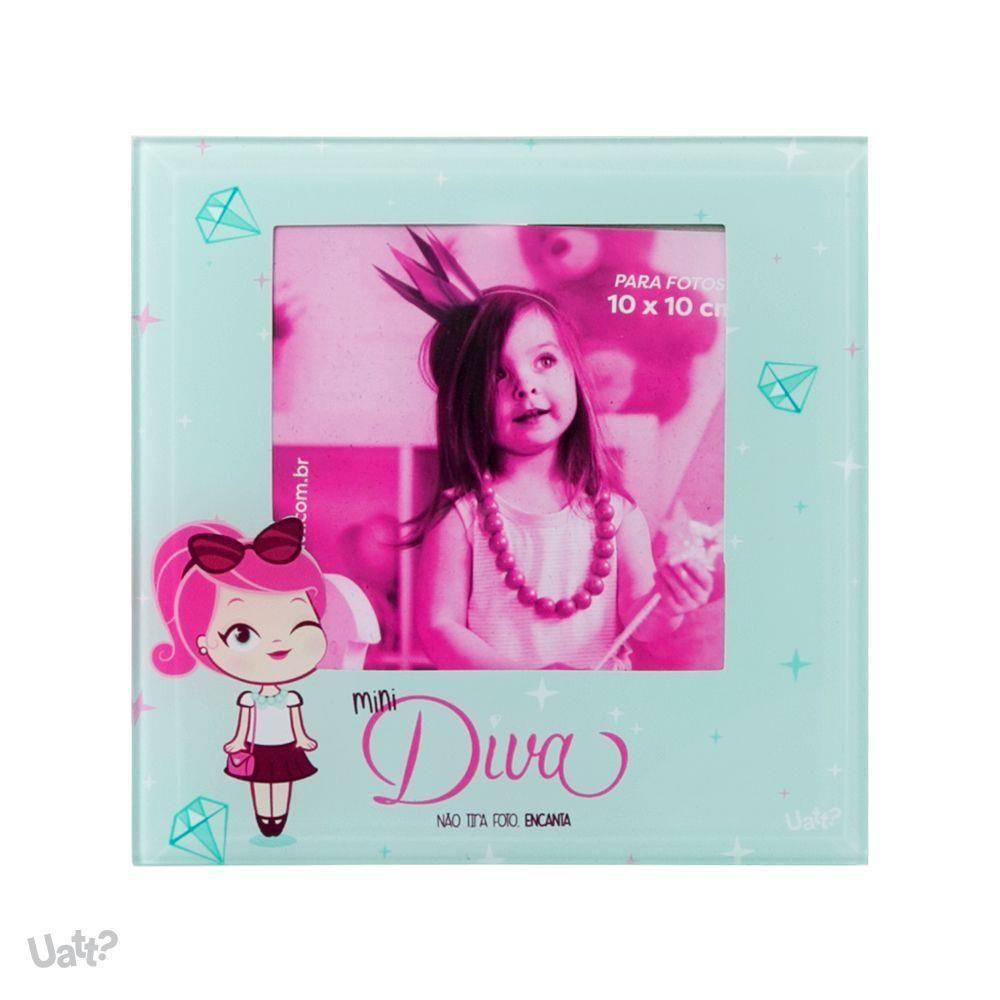 Porta Retrato de Vidro Mini Diva 10x10cm