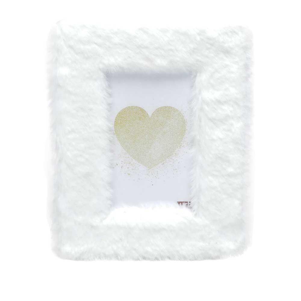 Porta Retrato MDF Fluffly Touch Branco 10X15cm