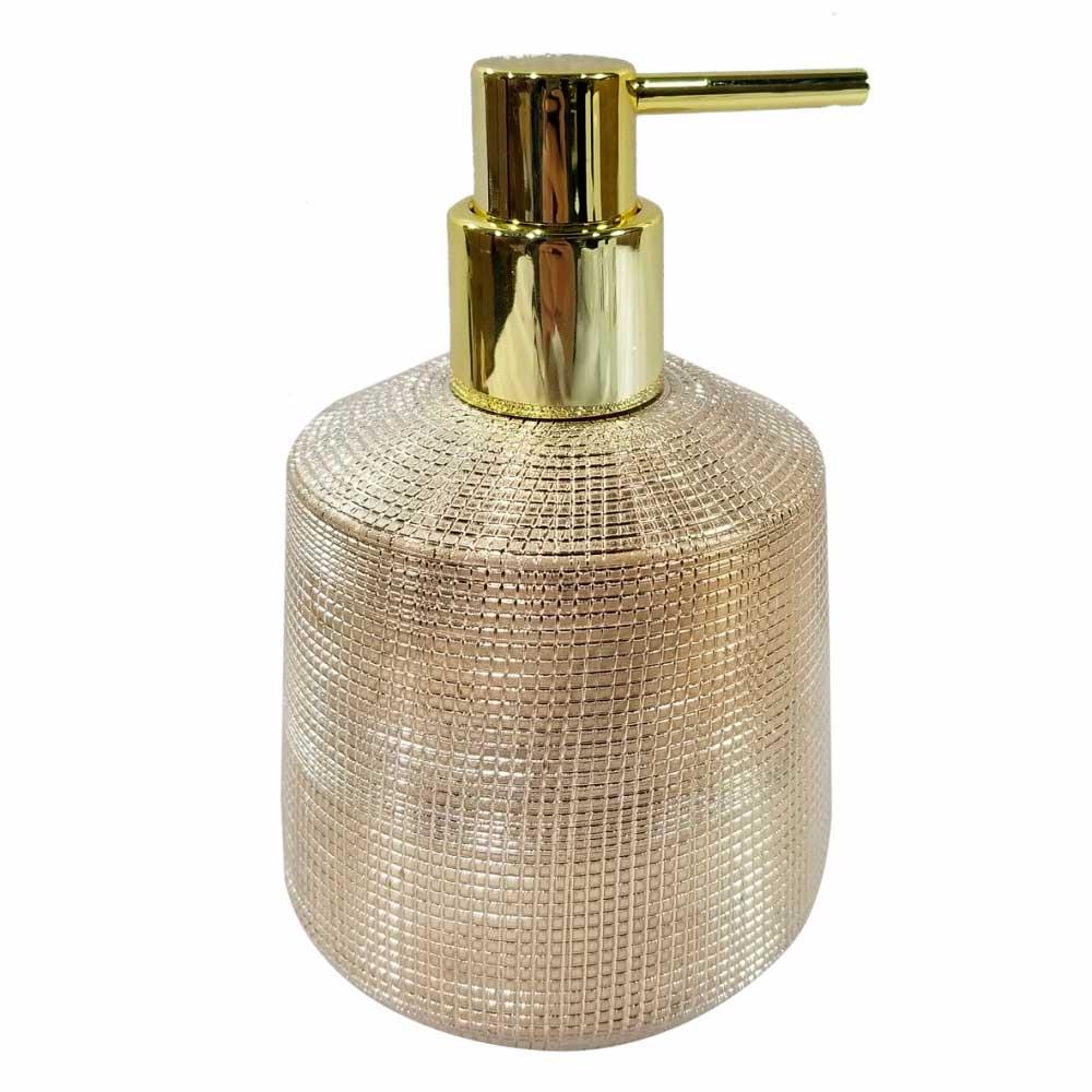 Porta Sabonete Líquido de Cerâmica Dourado