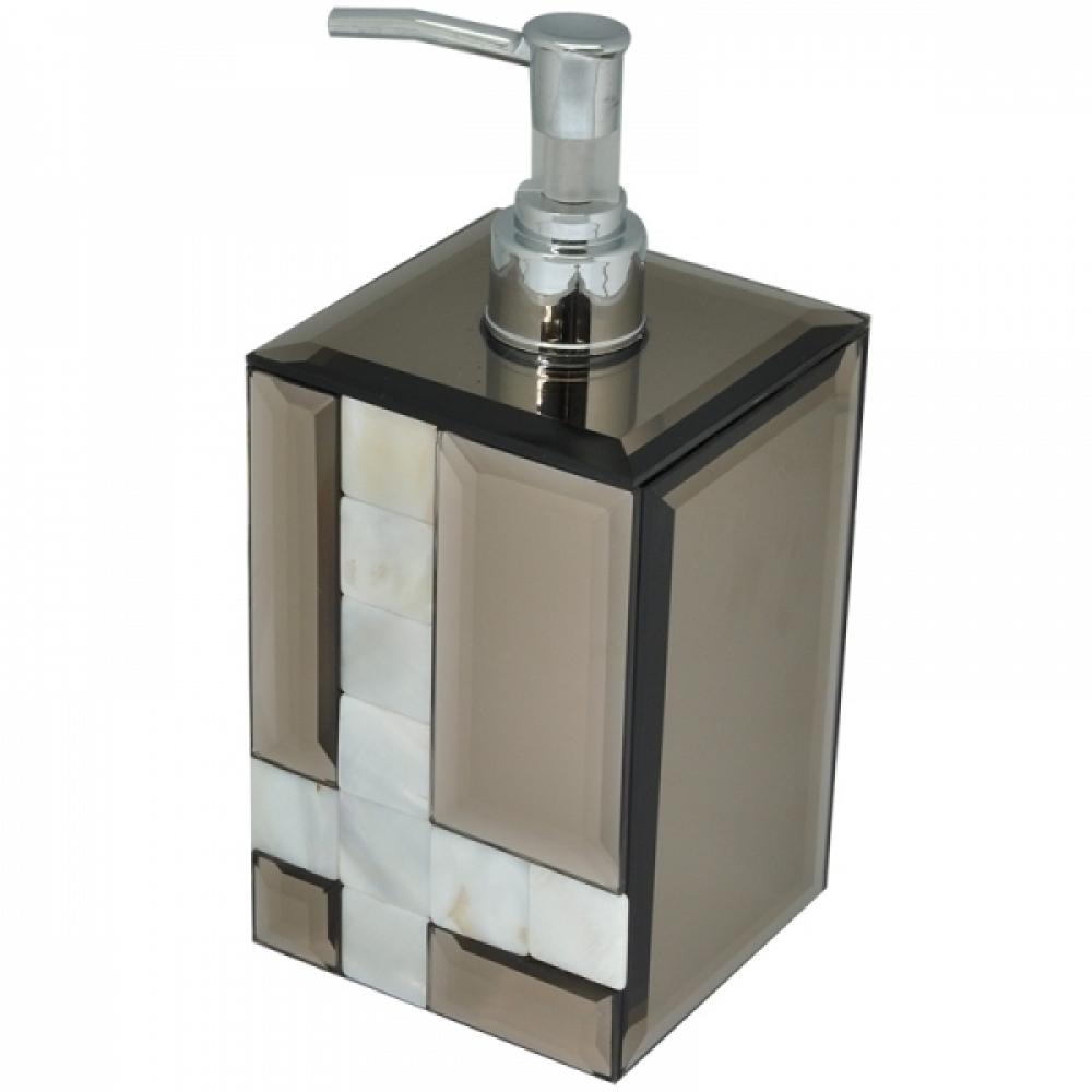 Porta Sabonete Líquido Espelhado Chumbo 8 x 8 x 18cm