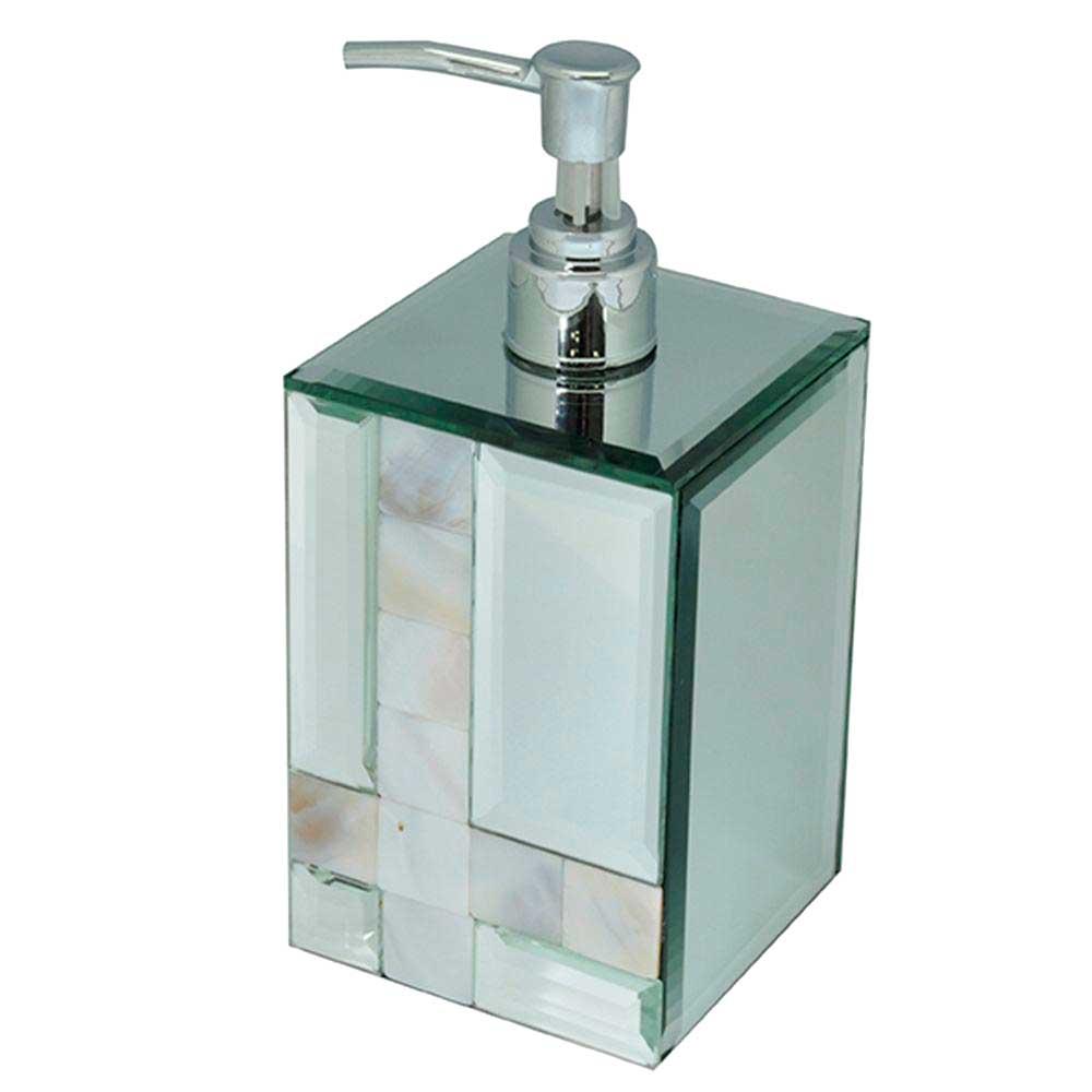 Porta Sabonete Liquido Espelhado com Madrepérola