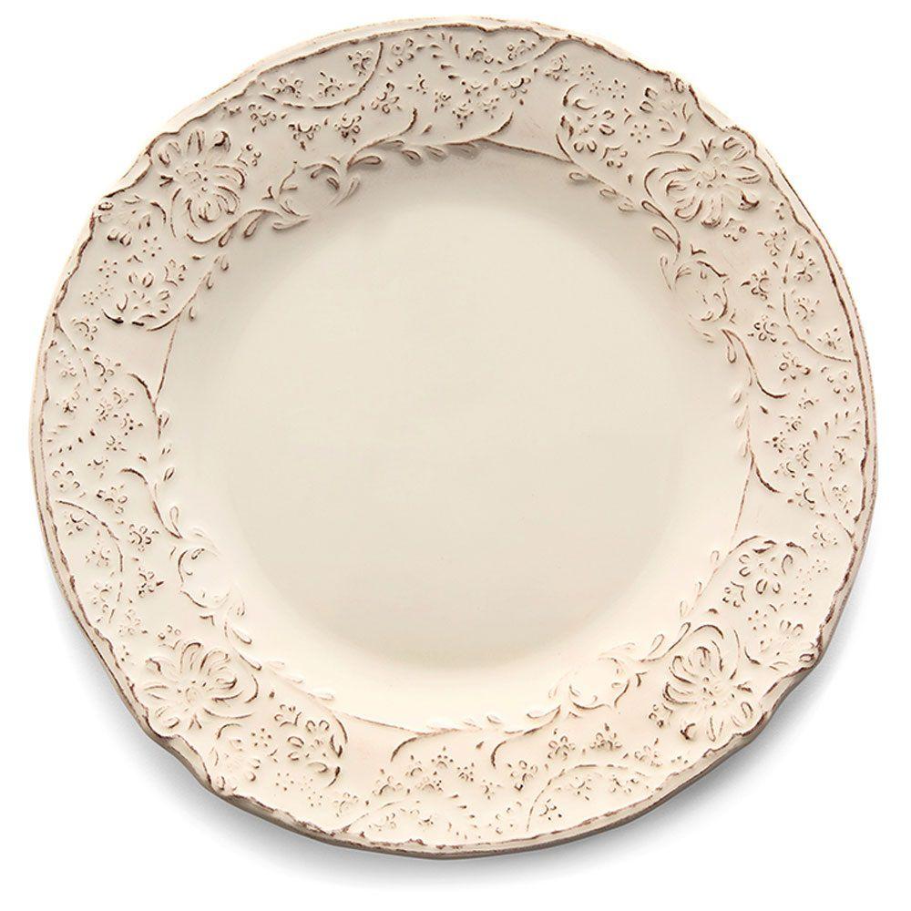 Prato de Sobremesa Argile Giulietta Off White